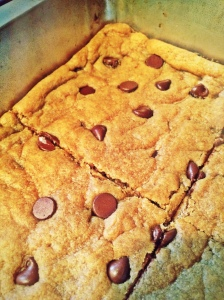 My scrumptiously smooth version of CCK's Chickpea Blondies